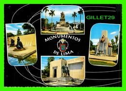 LIMA, PÉROU - MONUMENTOS DE LIMA - 4 MULTIVUES - EDICIONES DE ARTE REP, 1964 - - Pérou