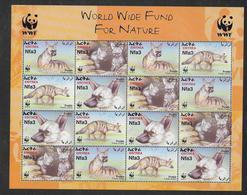 ERITREA - ANUMAUX WWF - Mi N° 254/257 ** MNH - FEUILLET COMPLET - W.W.F.