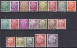 Saar 1957 Mi#380-399 Mint Hinged - 1957-59 Federation