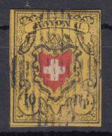 Switzerland 1850 Mi#8 II Used - 1843-1852 Timbres Cantonaux Et  Fédéraux