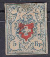 Switzerland 1850 Mi#9 II Used - 1843-1852 Timbres Cantonaux Et  Fédéraux