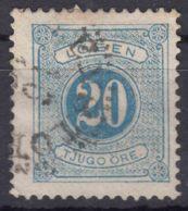 Sweden 1874 Postage Due Mi#6 B Perforation 13, Used - Postage Due