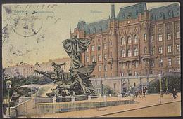 Ak Stettin Rathaus Mozartbrunnen 1905 Szczecin - Pommern