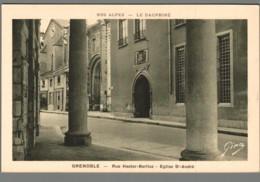 CPA 38 - Grenoble - Rue Hector Berlioz - Eglise Saint André - Grenoble