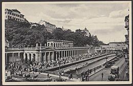 Ak  KARLSBAD Mühlbrunnkolonade Fotokarte MWSt. 1939 Weltbad - Sudeten