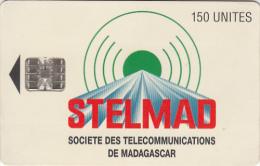 MADAGASCAR - Telecom Logo, Stelmad S.A. First Issue 150 Units, CN : C4B147359, Used - Madagascar