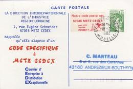 CARTE. 1982. VIGNETTE ADRESSE POSTALE  / 2 - 1961-....
