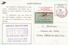 CARTE. 1980. VIGNETTE ADRESSE POSTALE  / 2 - 1961-....