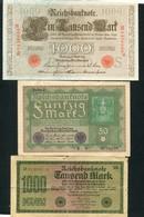 LOT DE 5 BILLETS D'ALLEMAGNE ET D'AUTRICHE - Monnaies & Billets