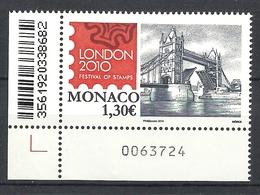 MONACO 2010 LONDON STAMP EXHIBITION MNH - Monaco