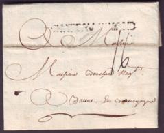 LOIRE INFERIEURE - LAC - CHATEAUBRIANT (56mm) L1 (1773) + Taxe 16 Pour Beaune (20) - Storia Postale