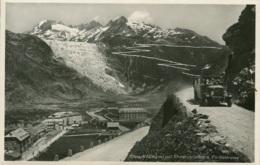 Schweizer Omnibus,Gletsch Mit Rhonegletscher Und Furkastrasse, Ungelaufen - Buses & Coaches