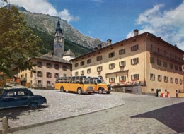 """Schweizer Postbusse,Splügen,Hotel """"Bodenhaus"""", Gelaufen - Busse & Reisebusse"""