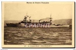 CPA Bateau Guerre Croiseur Ecole Jeanne D Arc - Warships
