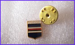2/2 Sampdoria Calcio Genova Samp Doria Distintivi FootBall Soccer Pins Spilla Genova - Calcio