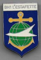 Batiment Hydrographe  L' ESTAFETTE - Insigne Arthus Bertrand - Marine