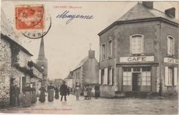 CPA  53  CHATRES    CAFE BAR - Frankrijk