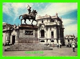 LIMA, PÉROU - MONUMENTO A FRANCISCO PIZARR0 1471-1541 ERIGIDO EN 1935 - EDICIONES DE ARTE REP - - Pérou