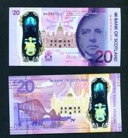 SCOTLAND  -  2020 (2019)  Bank Of Scotland  Polymer £20  UNC Banknote - Scozia