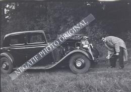 Voiture Automobile Chenard Et Walker Homme Demarre à La Manivelle NEGATIF PHOTO 3/4 - Cars
