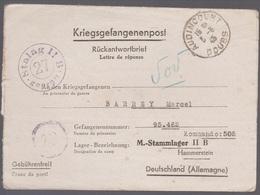 1943 Lettre Prisonnier De Guerre Stalag 11 Commando 505, Pour Audincourt - Marcophilie (Lettres)