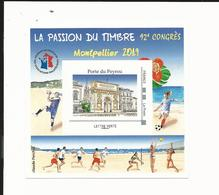 Bloc FFAP Passion Du Timbre 2019 - Montpellier - Blocs Souvenir