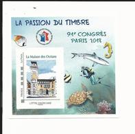 Bloc FFAP Passion Du Timbre 2018 - Paris - Blocs Souvenir
