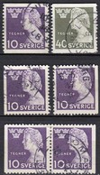 SE143 – SUEDE – SWEDEN – 1946 – ESAIAS TEGNER – MI 323/24 USED - Gebruikt