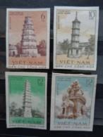 VIETNAM DU NORD 1961 Y&T N° 238 à 241 NON DENTELES **  - TOURS ANCIENNES - Vietnam