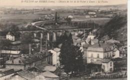 CARTOLINA VIAGGIATA 1936 ST-VICTOR SU RHINS FRANCIA (TY326 - Saint Victor