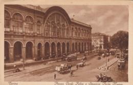 CARTOLINA VIAGGIATA 1931 TORINO PIAZZA CARLO FELICE STAZIONE PORTA NUOVA (TY332 - Stazione Porta Nuova
