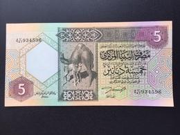 LIBYA P55 5 DINAR 1991 UNC - Libye