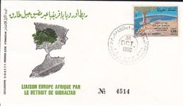 Maroc 1er Jour FDC YT 864 Europe Afrique Par Gibraltar Agadir 30/10/80 - Maroc (1956-...)