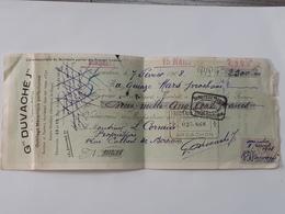 Reçu De La Société Duvaché D'Arcachon Vers Bordeaux Le 7 Fevrier 1908 . Cachets Divers .. Lot75 . - France