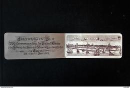 @@  Stadt EMDEN -1904 - Eintrittskarte Nr. 10 - Verein Für Kanalschiffahrt - TOP !!!  @@ - Tickets D'entrée