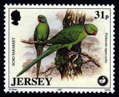 Jersey 1997 **MNH Parrot Echo Parakeet Papagei Perroquet - Papageien