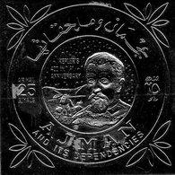 """Ajman - Timbre P.A Sur Feuille Argentée """" Kepler 's , 400th Anniversary """" Neuf , Autocollant - Adschman"""