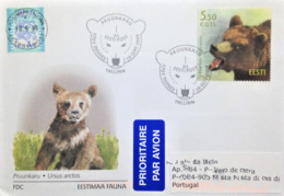 "Estonia, Circulated FDC To Portugal, ""Fauna"", ""Brown Bear"", 2009 - Estonie"
