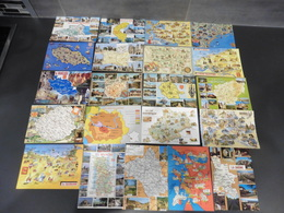 LOT DE 107   CARTES POSTALES  DE   CONTOURS  DE  DEPARTEMENTS - Cartes Postales