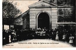 77  Pontcarre  Eglise Au Jour De Saint Hubert - Autres Communes