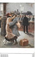 CPA. MILITARIA. Illustrateur GUILLAUME. La Permission,le Baiser à La Gare...CO 509 - Guillaume