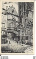 CPA  ARTS. Illustrateur  GOULON.  ROUEN. La Grosse Horloge. Dessin à La Plume. .CO 293 - Autres Illustrateurs