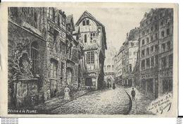 CPA  ARTS. Illustrateur  GOULON.  ROUEN. Rue St-Romain. Dessin à La Plume. .CO 292 - Autres Illustrateurs