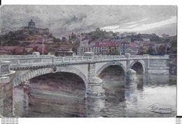 CPA ARTS. Illustrateur  GUERZONI.  Torino. Ponte Nuovo Umberto I. .CO 289 - Autres Illustrateurs
