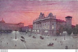 CPA ARTS. Illustrateur  GUERZONI.  Torino. Piazza Castello Col Palazzo Reale. .CO 288 - Autres Illustrateurs