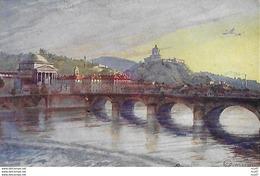 CPA ARTS. Illustrateur  GUERZONI.  Torino, Il Po, La Gran Madre Di Dio E Monte Cappuccini. .CO 285 - Autres Illustrateurs