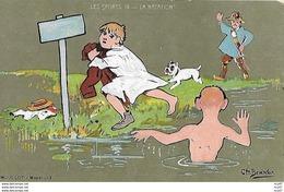 CPA SPORTS Humoristiques.  Illustrateur CH. BEAUVAIS. La Natation, Garde Champêtre, Chien. .CO 270 - Swimming