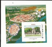 Bloc FFAP Timbres Passion De 2016 - Toul - FFAP