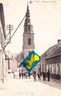 PUERS - Kerkstraat En Toren - Superbe Carte Animée Et Circulé En 1921 - Puurs