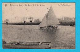 "CPA Environs De GAND / GENT : Les Bords De La Lys à Aisné "" Het Heilighuiseke "" Circulée En 1913 - 2 Scans - Gent"